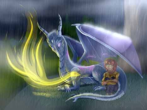 :Dragon rain: by AlishDark