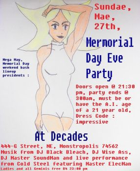 5-27, Asteria Flyer Memorial Day Eve by VectorWomanDRNE-Soul