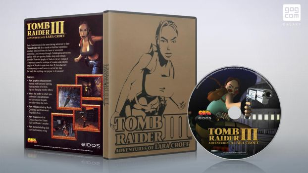 Tomb Raider III 1998 dvd cover 01 (Recovery) by XOVYANT