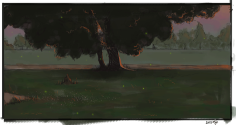 sketch of my front yard by Shiro-mii