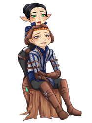 Commission - Mahariel and Alistair by blackberrehmoved