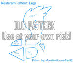 Reshiram Plushie Pattern: Legs by Monster-House-Fan92
