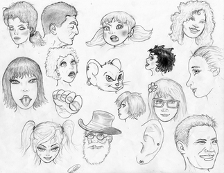 Face Sketches 180703 by TheMightyGorga