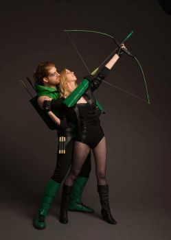 Black Canary and Green Arrow by AsheRogue