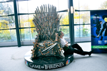 Roronoa Zoro Taking a Nap Next to Iron Throne by Over9000Desu