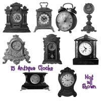 15 Antique Clock PS Brushes by Spyderwitch