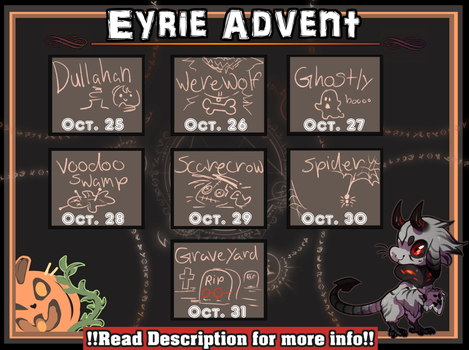 Eyries October Advent [ CLOSED ] by Dragonpunk15