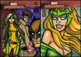 Marvel Masterpieces AP 1 and 2 by grantgoboom