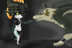 Link meets Midna by Cryzeu