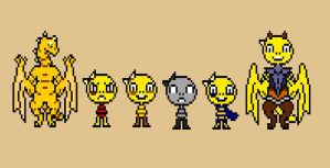 Undertale Monster Kid Pixel Version by Cabbt