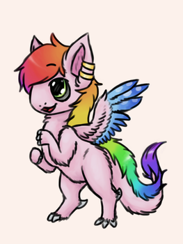 It's a Floofdragon! [ReDraw!] by SolarElster