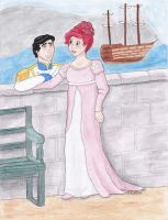 Regency Ariel and Prince Eric by aussieclown