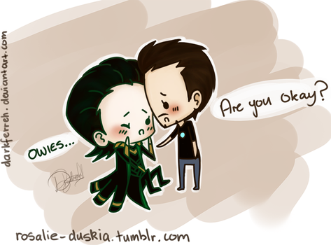 Chibi Loki Tony by DarkFerreh