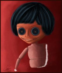 Buttoned Eyes Doll by 1FROZEN1