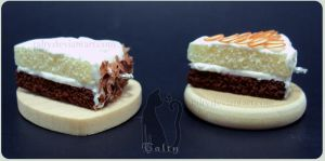 Chocolate and Vanilla Cakes by Talty
