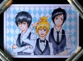 AT: Crossover cafe waiters by Tiha90