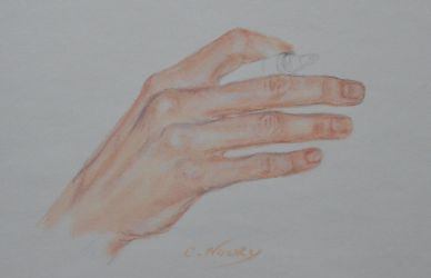 Tom's Hand 35 'Writing' by Andromaque78