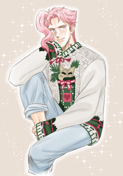 Kakyoin - Christmas Sweater by maiyeng