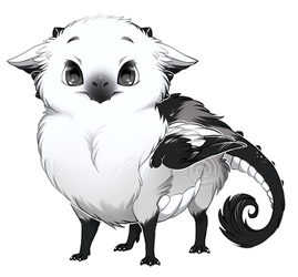 If birds were dragons: Long Tailed Tit by Kiwibon