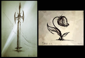 Sword and the flower by Tapwing