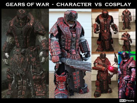 Gears of War Character vs Cosplay SKS Props Theron by SKSProps