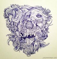 ballpoint drawing 1 by dehydrated1