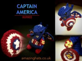 Captain America Dragon by Amaze-ingHats