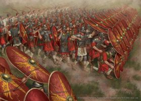 Roman Infantry Formation by jasonjuta