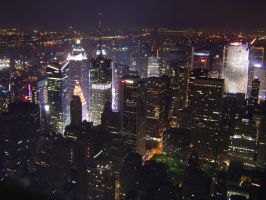 New York At Night by minniemae
