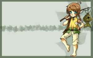 Pointy Eared Tomboy Wallpaper by thedandmom