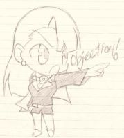 SD Objection - GS3 : Mia Fey by Chibi-Sanzo