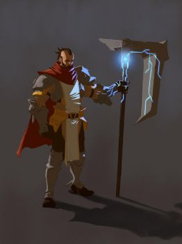 Dude with big axe by mercikos