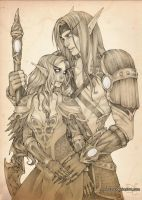 Commission: Arisien and Yurion by Nuaran