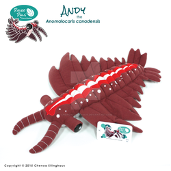 Paleo Pals Andy the Anomalocaris - Plush Toy by ChenoaEllinghaus