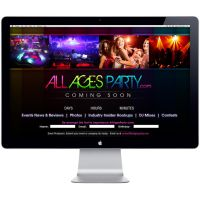 AllAgesParty.com Splash Page by rjartwork