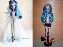 Emily the corpse bride custom  - before and after by Rin0730