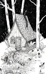 House in the woods by Lu-Art