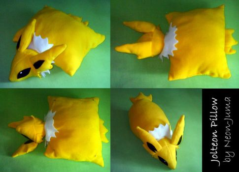 Jolteon pillow by Neon-Juma