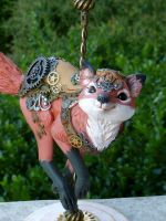 Steampunk Carousel Fox by MysticReflections