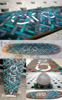 'Connected' Longboard Deck Design by CIROdg