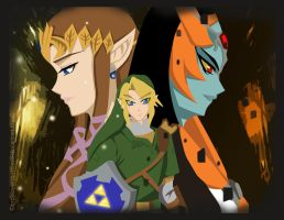 The Legend of Zelda Twilight Princess by broken-with-roses
