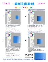 How To Blend On Paint Tool Sai by Silver-moon123