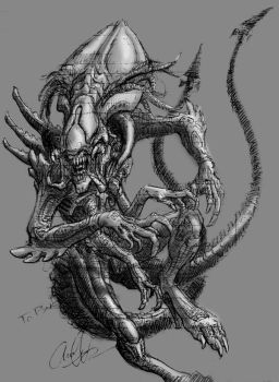 Queen Predalien Sketch by Art-Minion-Andrew0