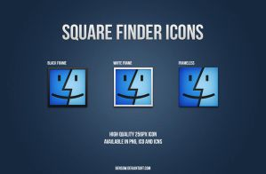 Square Finder Icon Pack by BenSow