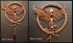 Phoenix Suncatcher by illustrisdesigns