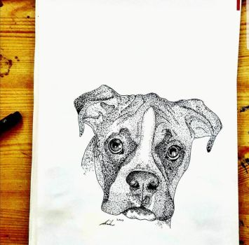 Boxer Dotwork  III by Nyctophylia