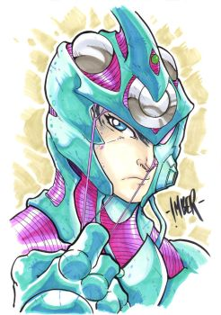 Guyver Marker Sketch by RecklessHero