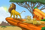Roaring Lion and Family by SeanDrawn