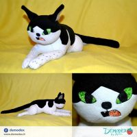 Cat plush by DemodexPlush