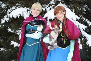 Anna and Elsa 2 by mystic-fae